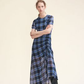 Long Checked Dress by Maje at Maje