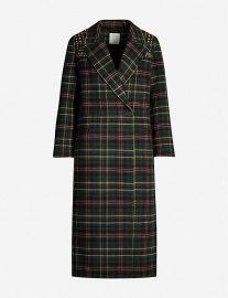 Long Coat with Rhinestone Shoulders by Sandro at Selfridges