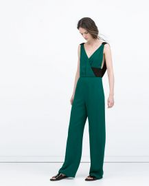 Long Colored Jumpsuit at Zara