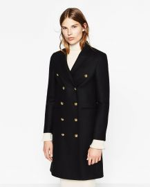 Long Crossover Coat at Zara