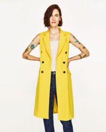 Long Double Breasted Waistcoat at Zara