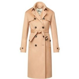 Long Double Cashmere Trench Coat at Burberry
