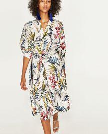 Long Printed Kimono at Zara