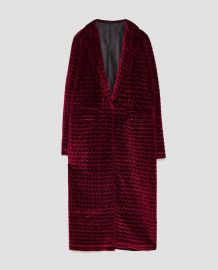 Long Quilted Coat at Zara