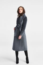 Long Shawl Collar Wrap Coat by Sentaler at Sentaler