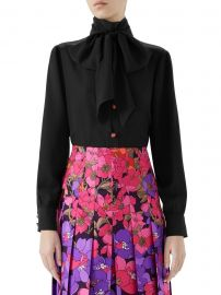 Long-Sleeve Lady Bug Button Tie-Neck Blouse at Saks Fifth Avenue