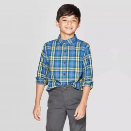 Long Sleeve Button-Down Shirt by Cat  Jack at Target