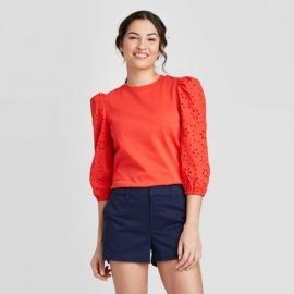 Long Sleeve Eyelet T-Shirt by A New Day at Target