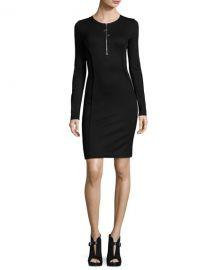 Long-Sleeve Half-Zip Mini Dress by Thierry Mugler at Bergdorf Goodman