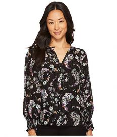 Long Sleeve Jewel Paisley Top by Rebecca Taylor at Zappos