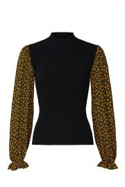 Long Sleeve Mixed Sweater by Opening Ceremony at Rent The Runway
