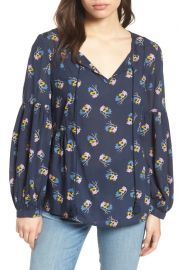 Long Sleeve Printed Tassel Blouse  at Nordstrom Rack