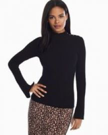 Long Sleeve Ruffle Turtle Neck Top at White House Black Market