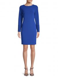 Long-Sleeve Sheath Dress at Lord and Taylor