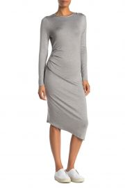 Long Sleeve Side Ruched Dress at Nordstrom Rack