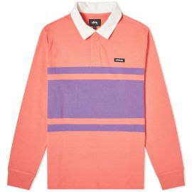 Long Sleeve Stanley Rugby Shirt by Stussy at End Clothing