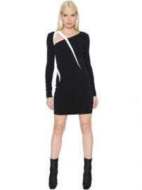 Long Sleeve Stretch Cady Dress at Luisaviaroma