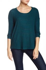 Long Sleeve Stripe Soft Pullover at Nordstrom Rack