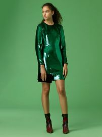 Long-Sleeve Tailored Sequin Mini Dress by Diane von Furstenberg at Orchard Mile