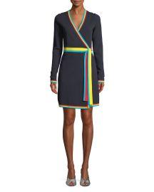 Long-Sleeve Wrap Sweater Dress at Bergdorf Goodman