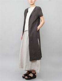 Long Slit Coat by Black Crane in grey at Need Supply Co