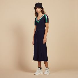 Long Sportswear Knit Dress at Sandro