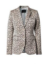 Long and Lean-Fit Leopard-Print Blazer at Banana Republic