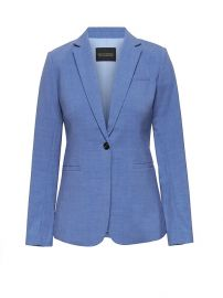 Long and Lean-Fit Lightweight Wool Blazer at Banana Republic