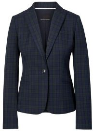 Long and Lean Fit Tartan Blazer at Banana Republic