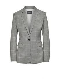Long and Lean-Fit Washable Wool Blend Blazer at Banana Republic