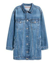 Long denim jacket at H&M