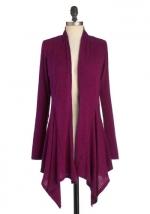 Long purple cardigan at Modcloth