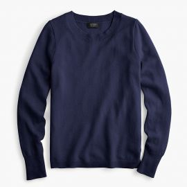 Long-sleeve everyday cashmere crewneck sweater in Navy at J. Crew