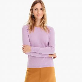 Long-sleeve everyday cashmere crewneck sweater in Smoky Wisteria at J. Crew