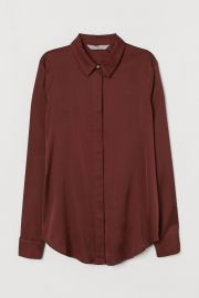 Long-sleeved Blouse at H&M