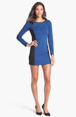 Long sleeved colorblock dress by Laundry by Shelli Segal at Nordstrom
