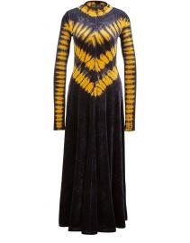 Long tie-dye dress at 24s