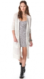 Long white cardigan by Free People at Shopbop