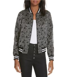 Lonnie Reversible Bomber Jacket by Keith Haring  x  Alice + Olivia at Nordstrom