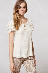 Looped Epaulette Pullover at Anthropologie