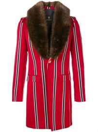 Lords And Fools Malcom fur-collar Striped Jacket - Farfetch at Farfetch