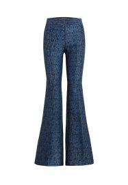 Lorette Snake Printed Flared Pants  at Rachel Zoe
