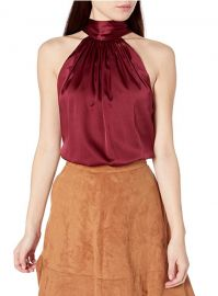 Lori Silk Halter Top at Amazon