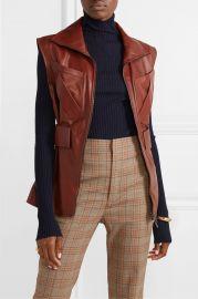 Lorique leather vest at Net A Porter