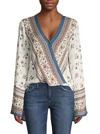 Lost   Wander - Floral-Print Faux Wrap Top at Saks Off 5th