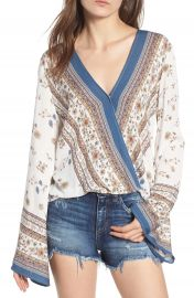 Lost   Wander Tulum Bell Sleeve Top at Nordstrom