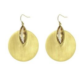 Lotus Disc Earrings at Dean Davidson