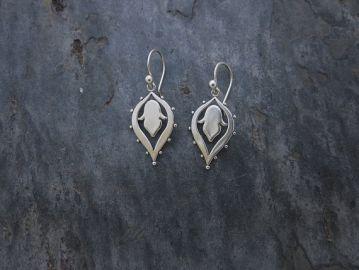 Lotus Drop Earrings at Etsy