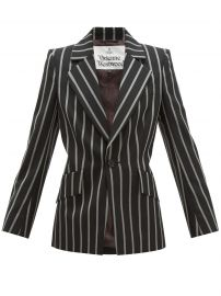 Lou Lou single-breasted striped jacket at Matches