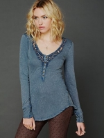 Lou legacy crochet henley by Free People at Free People